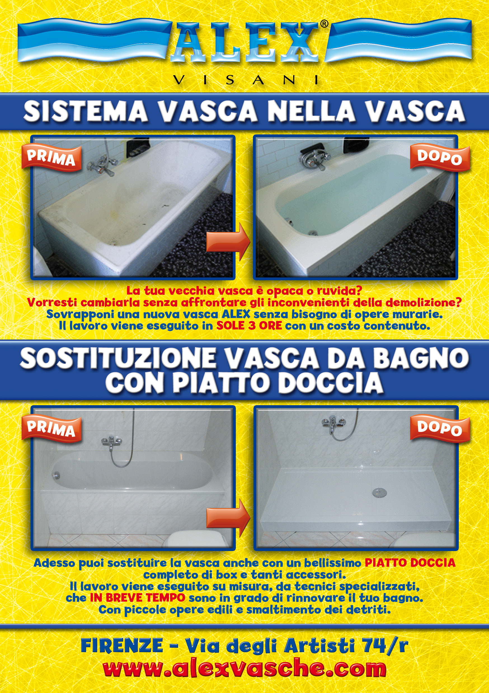Sovrapposizione vasca da bagno firenze vasca nella vasca pistoia prato lucca pisa livorno - Sostituire la vasca da bagno ...